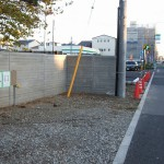 江戸川区のお寺様の縁石設置/敷石工事