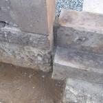墓所、墓石の補修です。目地補修とクリーニングをしました。江戸川区