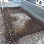 基礎工事をしました。 青山霊園の墓石の工事です。