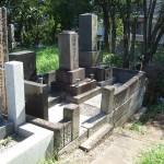 東京都立の青山霊園 墓地改葬の工事