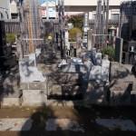 江戸川区のお寺にて墓石設置工事に入りました