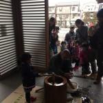 江戸川区瑞江のお寺でお餅つきをしました