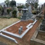 染井霊園で吉相墓の設置工事をしました
