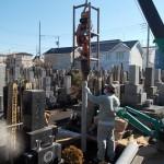 江戸川区瑞江のお寺で杭打ち/基礎工事をしました