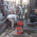 葛飾区新小岩のお寺で解体工事/杭打ち/基礎工事をしました