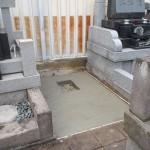 葛飾区東新小岩のお寺で基礎工事をしました/開眼供養と納骨法要をしました