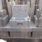 江戸川区のお寺に、洋型、前蓋式のお墓を建てました