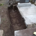 多磨霊園でお墓の部分リフォーム工事をしてきました。