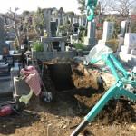 八柱霊園にてお墓の更地返還工事をしました