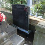 雑司ヶ谷霊園で墓誌石設置とお骨の確認をしました