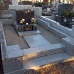 八柱霊園で雑草除けの工事をしました