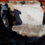 掘削機0.04を借りて壁を壊しました