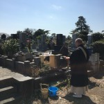 八柱霊園で施設変更。閉眼供養と出骨、合葬施設への納骨をしました。