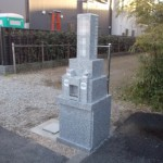 江戸川区のお寺で2尺角の新区画に建墓しました