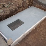 青山霊園でお墓の基礎工事をしてきました