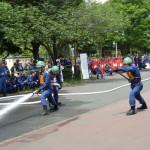 消防団の操法大会に出場しました