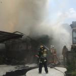 東新小岩で火災があり、応援で出動しました
