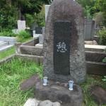 青山霊園で正面文字の加工をしました