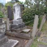 青山霊園で柱の撤去工事を行いました