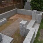 青山霊園にて雑草除け工事の補修をしました