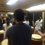 太鼓の練習に参加しました