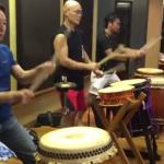 和太鼓の稽古に参加しました