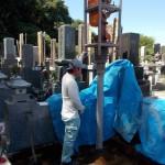 鎌ヶ谷の共同墓地で基礎工事をしました/墓所工事が完成いたしました。