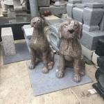 犬の彫刻が出来ました