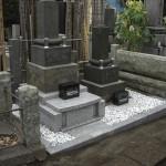 谷中のお寺で墓所の解体工事をしました