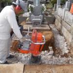 八柱霊園にて外柵のリフォーム工事を行っております。