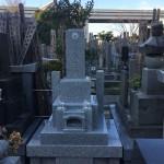 葛飾区四つ木のお寺のお墓が出来上がりました