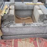 江戸川区のお寺で土台の据え直し/建墓工事が完成しました