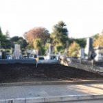 広さ40㎡を超える広さのお墓じまい工事が完了しました。都立八柱霊園にて