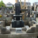 江戸川区のお寺様の墓地にて、お墓の洗浄と雑草止めの工事等をいたしました