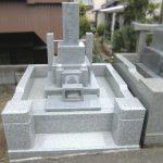 千葉県船橋市の寺院墓地にて、中国産御影石(G614、G623)を使用した和型のお墓が完成しました。